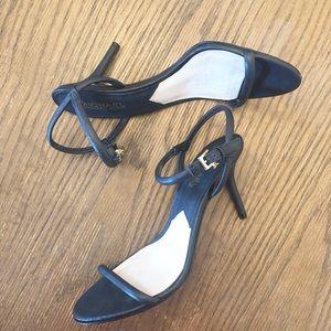 Michael Kors strappy blue heels size 6 1/2M